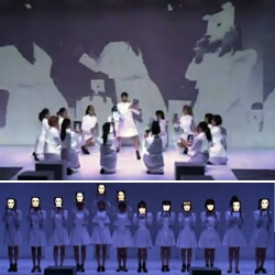 """Amazing - Dance performance """"dot.""""  by elevenplay. the last scene of this performance: iPad scene. With programming by Daito Manabe."""