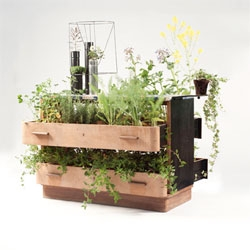 Da Morto A Orto by Peter Bottazzi and Denise Bonapace turn recycled furniture into planters. The series name translates to 'from redundant to abundant'.