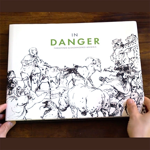 In-Danger Book: Artists United for Wildlife Conservation is currently on Kickstarter. It contains over 100 unique artworks representing threatened and endangered creatures from amazing artists like J.A.W. Cooper, Kim Jung Gi, and so many more.