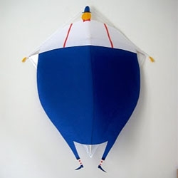 Super cute handmade kites by Daniel Frost recently shown at SHFT Copenhagen Shop.