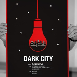 Alternative Dark City movie poster for sale, 2 color screen print. Limited to just 50 copies and each signed by the artist Raid71. Print by the amazing Mat Daly.