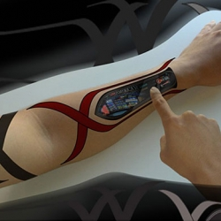 Dattoos by Frog Design, would be the ultimate user/machine interface.
