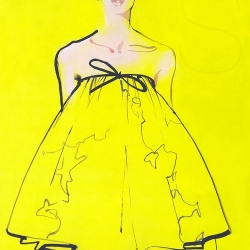 David Downton Fashion Illustration are a mix of Trash with sweetness and Curves... Beautiful