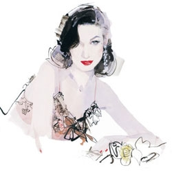 Illustrator David Downton is now artist-in-residence at London hotel Claridges.