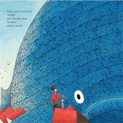 Writer and illustrator David Lucas's cute children's book Whale.