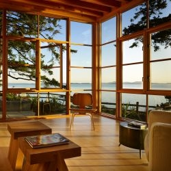 Miller Hull Architects have designed the Davis Residence in Bellingham, Washington.