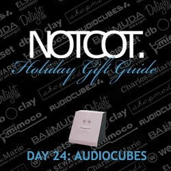 Gift Guide Day 24 ~ Audiocubes! Here are my picks from the audiophile and japanese gadget importer! Must sees are the video about the FACEBANK (so freaky) and the Rolly.