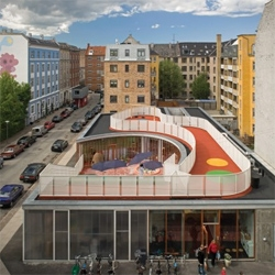 Another stunning day care center by Dorte Mandrup in Copenhagen (see another at #13531). This time, the roof becomes a playground, making me wish i was a child again.