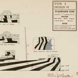 Beautiful collection of dazzle camouflage designs over at the Rhode Island School of Design website.