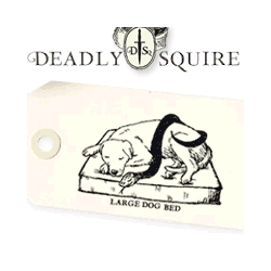 Killer dog beds in 5 signature patterns from Fabric design superstars Deadly Squire