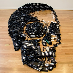 Dead Media is an installation created by Skull-A-Day's Noah Scalin out of 497 videocassettes.
