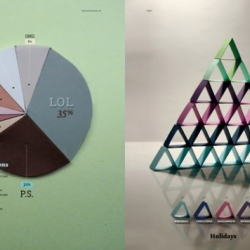 Gretchen Nash makes some really cool 3D graphs and charts by hand out of paper. Takes a normally boring subject and makes it interesting!