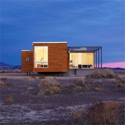 Stunning home near Death Valley owned by Fabrizio Rondolino and Simona Ercolani by architect Peter Strzebniok.