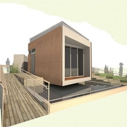SCU and CCA teamed up to compete on this years Solar Decathlon, event being help in Washington DC in October. Their house uses different passive strategies to reduce energy consumption and carbon footprint.