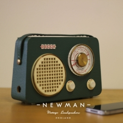 Newman Radios, upcycled vintage radios brought into the 21st century, retaining their retro appeal but now bluetooth enabled.