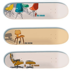 When your fav classic chairs go sk8 ~  Modern Series by Tony Larson for Girl