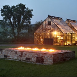 Esther Dormer and Lisa Dagnal, patron and decorator, have turned Ms. Dormer's Bulger, Pa., farm into a series of atmospheric lounges for family and friends.