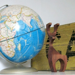 Loving this vintage wooden Danish-Modern reindeer!
