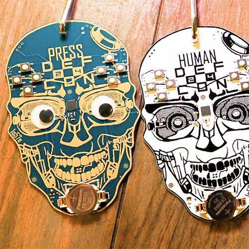 """The incredibly intricate badges of Def Con: Hackers spend all year creating the world's coolest conference badges."" A fun look into all the badges at Def Con by Engadget."