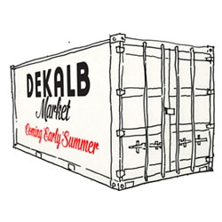 Dekalb Market ~ a marketplace made of shipping containers that will be popping up in Brooklyn.