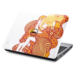 Dell Adds Eye Candy to Inspiron Mini Mix with Cherry Red, Pretty Pink and Tristan Eaton Designs ~ Wow... this is one of the first art/designs on laptops i'm actually kind of liking!