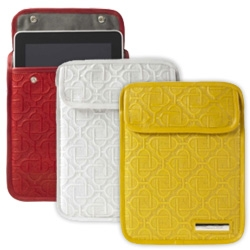 Luxury iPad Cases ~ Now Oscar De La Renta joins Gucci, LV, Ferragamo with their iPad Clutch, an online exclusive.