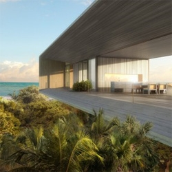 Dellis Cay is a luxury resort on an island in the Turks & Caicos archipielago, with works from Zaha Hadid, David Chipperfield, Kengo Kuma, Shigeru Ban, among others.