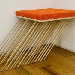 Impressive broom pieces by Michael DeLucia from Brooklyn.