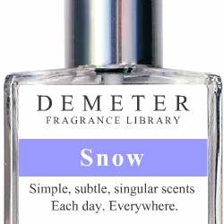 Demeter Fragrance library offers product in scents as common as lavender and rose, to scents as off beat as play-doh and rye bread. [Editor's note - i guess snow scents might be amusing here in LA]