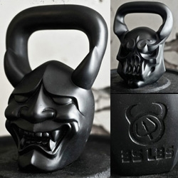 "DemonBells ~ like kettlebells, only works of ""art in motion"""