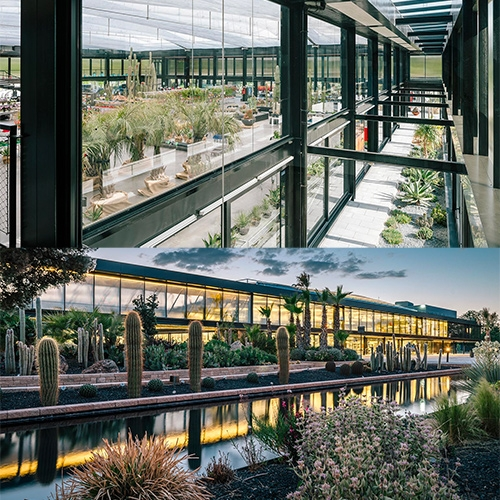 Desert City designed by García-Germán Arquitecto. Wallpaper has a look at this stunning new cactus garden (the largest in europe) outside Madrid with tours, research and breeding of cacti, retail space, workshops, event facilities and a restaurant.