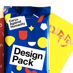 Cards Against Humanity Design Pack expansion - the cards get colorful as 30 fully-illustrated cards by some of the best graphic designers in the world and legendary printmakers.