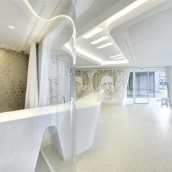 Beautiful designer bank in Zurich. This is the Raiffeisen Bank's flagship in Zurich designed by design co-operative NAU.