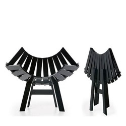 The modern take on foldable furniture are sculptural objects of outstanding aesthetic value folded or open.