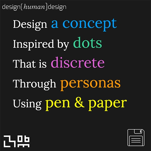 design(human)design - helps you generate ideas of things to create (May you not get this desperate!) There is also a physical card based version. This project comes from the MIT Media Lab: Object-Based Media Group.