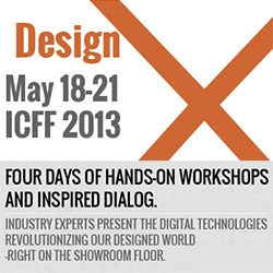 Design X workshops join ICFF for NY Design Week '13 - with our 3D Printing loving friends from Shapeways and Nervous System, Mode Lab,  as well as Skylar Tibbits, and Francis Bitonti... exploring responsive design, physical computing, and more!