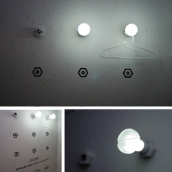 "The Bolt Light Bulb by Sungmin Hong. From the name 'Its a bolt + bulb + light, a light bulb that is ""bolt"" shaped'"