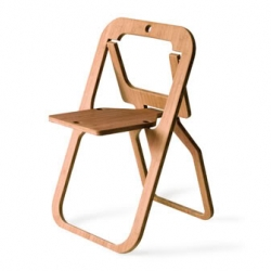 The 'Desile' folding chair by Christian Desile is emerges from the basic shape of a drawing & folds completely into 20mm thick plate.