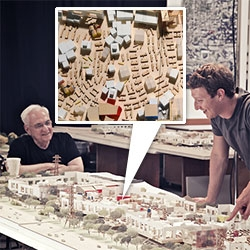 Frank Gehry for Facebook's new west campus ~ particularly interesting is the precise configuration of the desks...