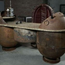 An Estonian sculptor named Mati Karmin is turning the old Russian AGSB-type sea mines into contemporary furniture units