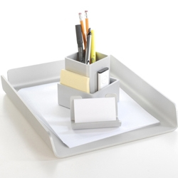 Deskology makes desk accessories that match your Mac spot on. Great for Mac addicts!