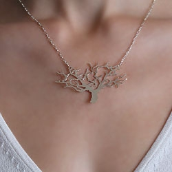 "Lovely ""dreaming tree"" necklace by Mighty Flirt..."