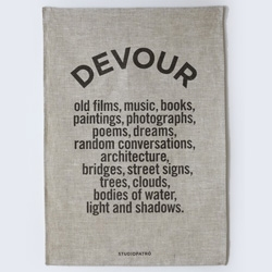 DEVOUR - a tea towel worthy of framing to remind and inspire by Studio Patro