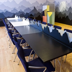 DGI-byen invited 7 artists and designers to redecorate their conference meeting rooms, in order to make meetings here a different and inspiring experience.