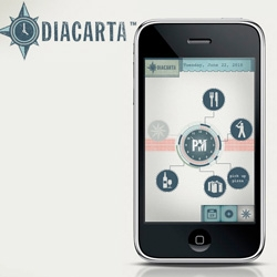 Diacarta - One of the most beautiful Apps for the iPhone I have seen.  Intuitive to use and a perfectly simple planner.