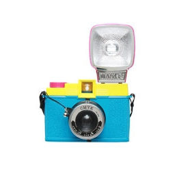The Diana F+ CMYK special edition is a tribute to those hardworking colours Cyan, Magenta, Yellow and Key (black, to us normal folk), the most important shades in offset printing. When mixed together they are capable of making millions of unique colours.