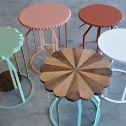 Turkish industrial designer, Begum Celik, has designed these cute side table collection entitled Diana&Dean side tables.