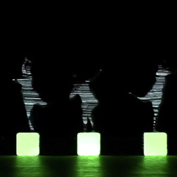 MIKIKO and Daito Manabe have teamed up to create a new projection mapping experience, this time on dancers.