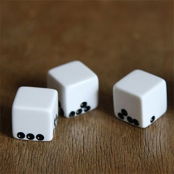Des Gravite ~ gravity dice! Love Suzy Lelievre's take on dice