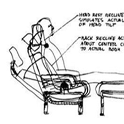 Groundbreaking ergonomic seating designer Niels Diffrient answers 3 Questions with a clever sense of humor. Includes some great product shots and a sketch from 1983.